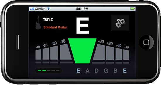 Tun-d | Guitar Tuner iPhone App | Standard Guitar Tuning